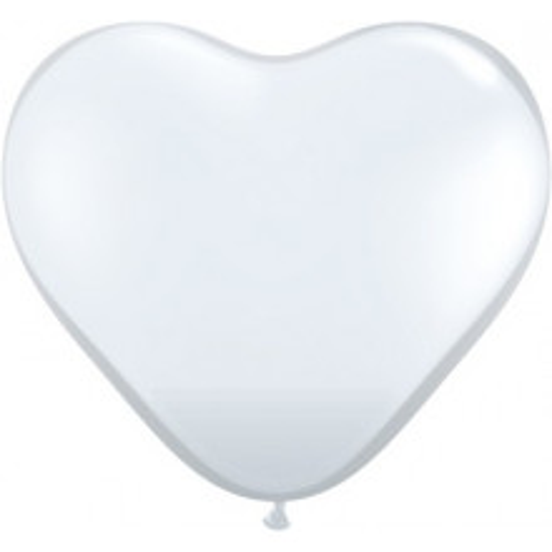 "Balloon heart 6"" - diamond clear"