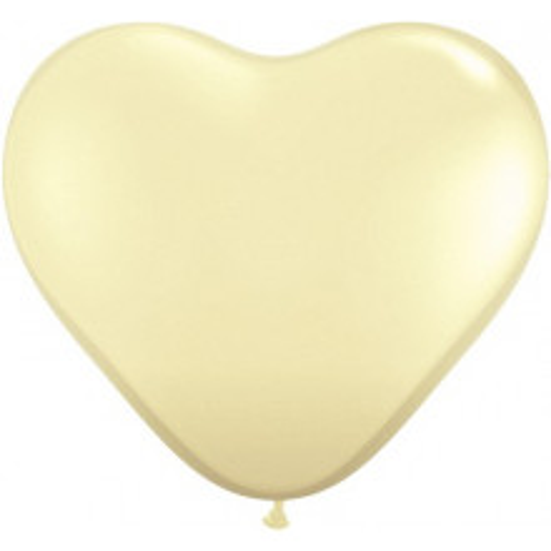 Balon srce 15 cm - krem