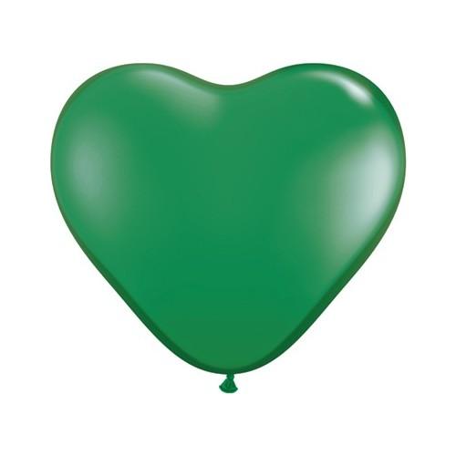 Balon srce 15 cm - zelen