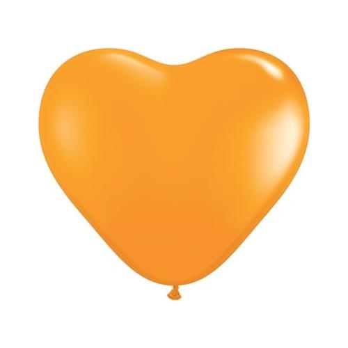 Balon srce 15 cm - oranžen