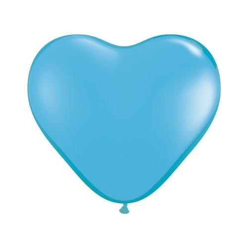 Balon srce 15 cm - svetlo moder
