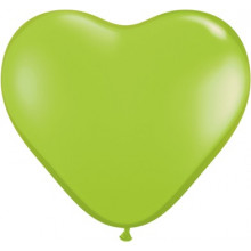 "Balloon heart 6"" - lime green"