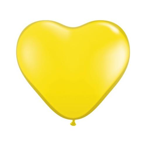 Balon srce 15 cm - citro rumen