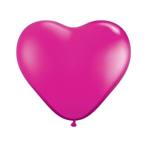 "Balloon heart 6"" - yewel magenta"