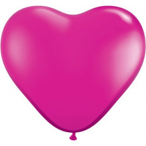 Balon srce 15 cm - yewel magenta