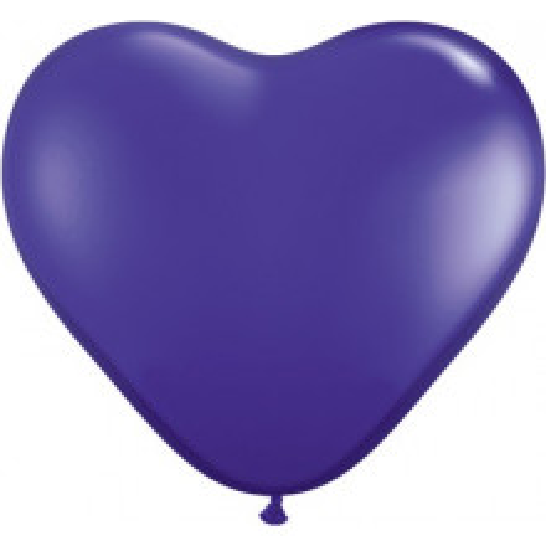 "Balloon heart 6"" - quartz purple"