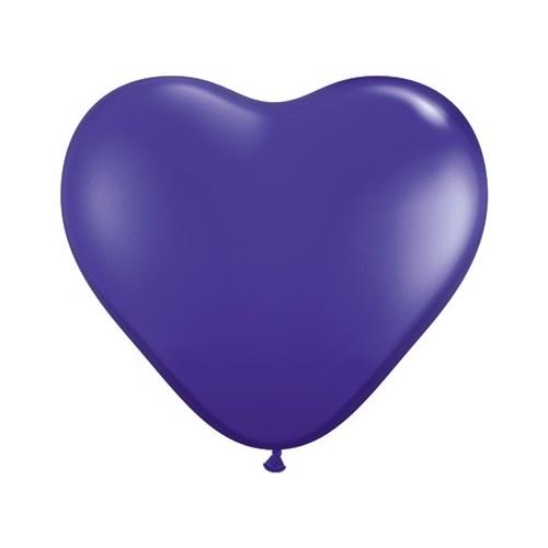 Balon srce 15 cm - temno vijoličen