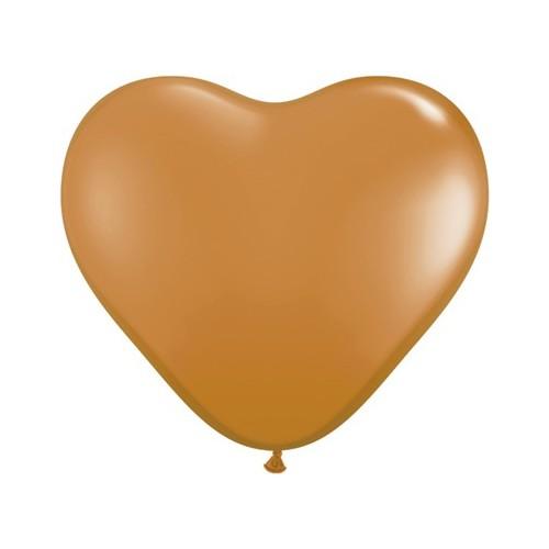 "Balloon heart 6"" - mocha brown"