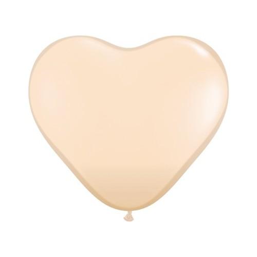 """Balloon heart 6"""" - blush"""