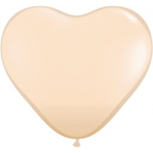 Balon srce 15 cm - kožno rjav