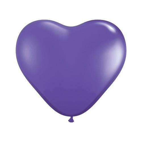 """Balloon heart 6"""" - purple violet"""