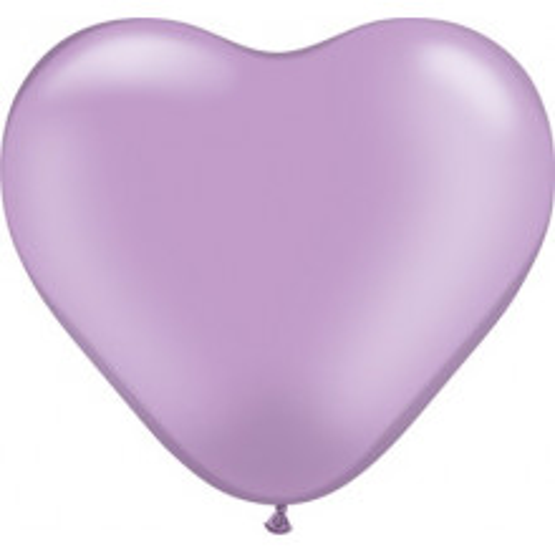 "Balloon heart 6"" - pearl lavender"