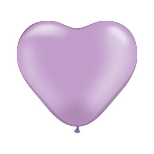 Balon srce 15 cm - pearl lila