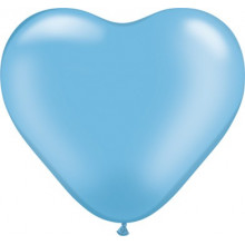 Balon srce 15 cm - pearl sinje moder