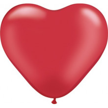 """Balloon heart 6"""" - pearl ruby red"""