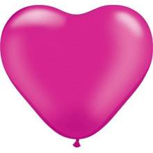"Balloon heart 6"" - pearl magenta"