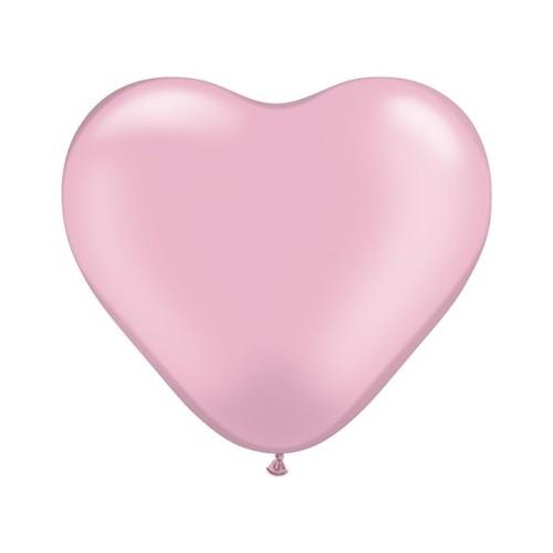 "Balloon heart 6"" - pearl pink"