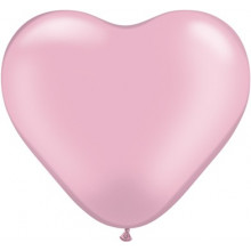 Balon srce 15 cm - pearl svetlo roza