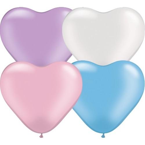 Balon srce 15 cm - pearl ass.