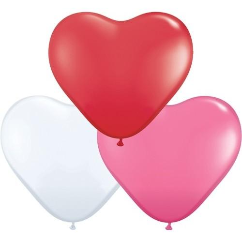 """Balloon heart 6"""" - love ass."""