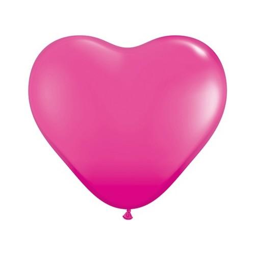 """Balloon heart 15"""" - wild berry"""