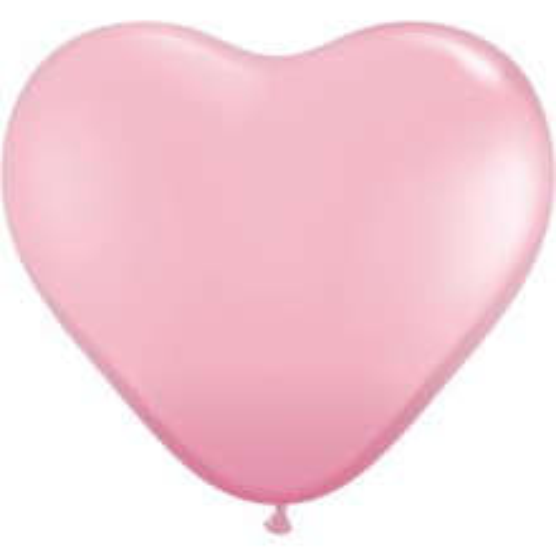 Ballon Herz 90 cm - licht pink - 1 Stück