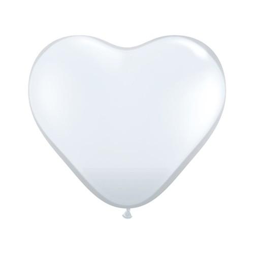 Balloon heart 3' - diamond clear - 1 pcs