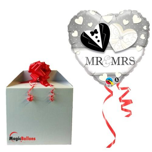Mr & Mrs Wedding - folija balon v paketu