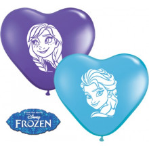 Balon srček Anna & Elsa
