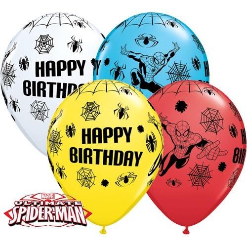 Balon od lateksa 28 cm - Spider-Man Bday