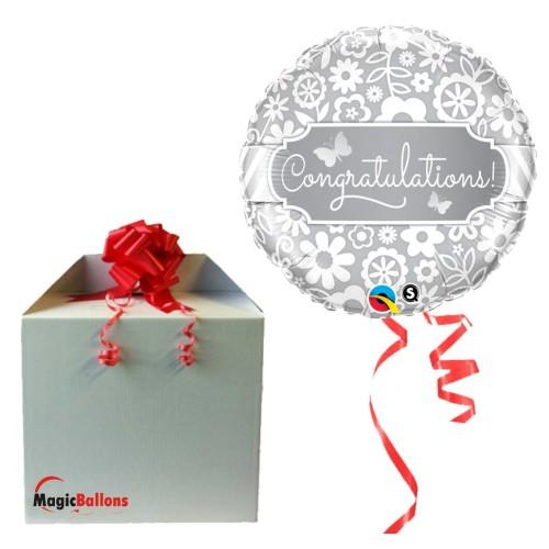 Congratulations Butterflies - folija balon v paketu