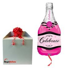 Celebrate pink bubbly wine