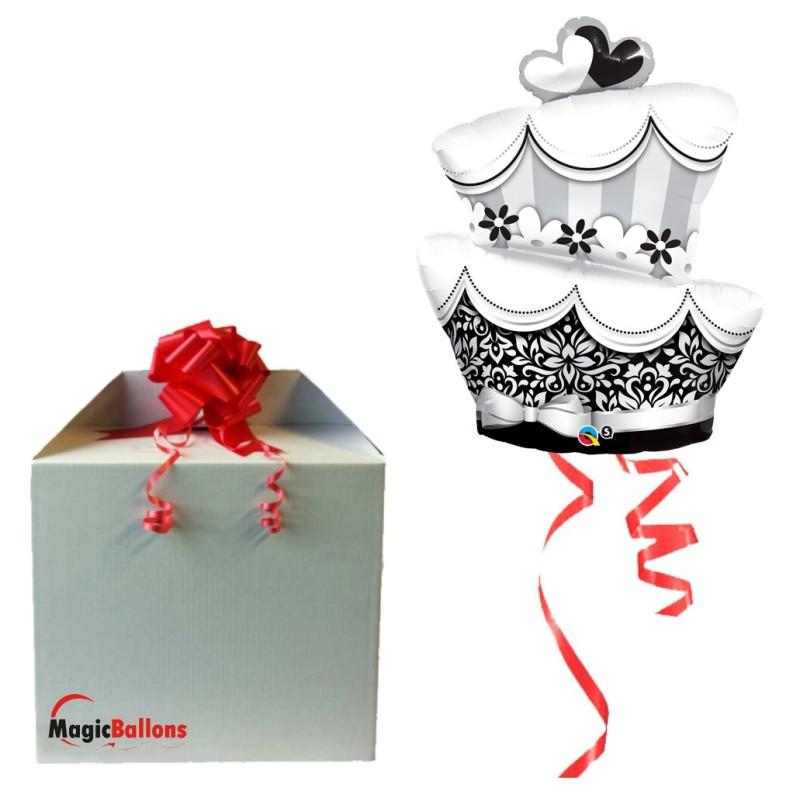 Fun & Fabulous Wedding Cake - folija balon v paketu