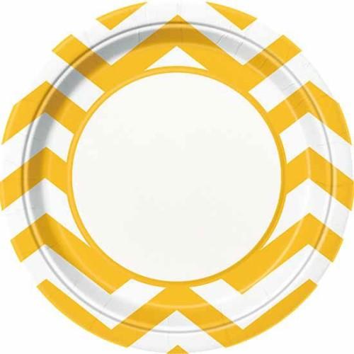 Chevron rumeni krožniki 23 cm