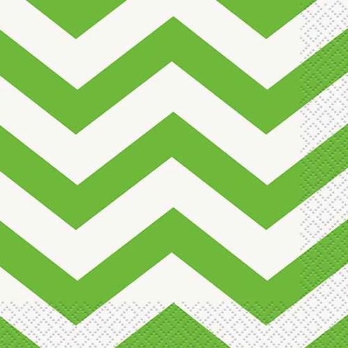 Chevron lime green luncheon napkins