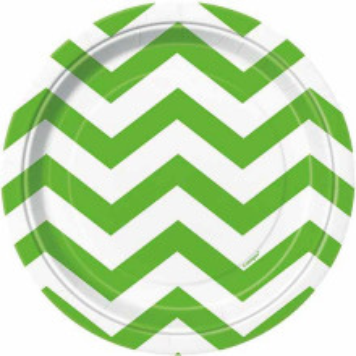 Chevron svetlo zeleni krožniki 18 cm