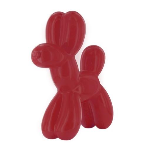 Red dog sculpture
