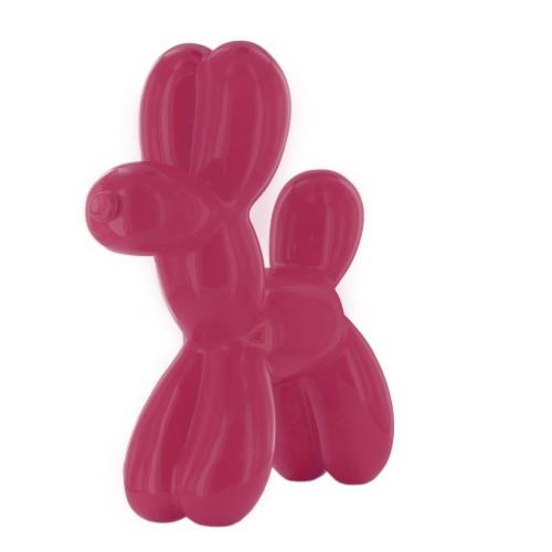 Pink dog sculpture