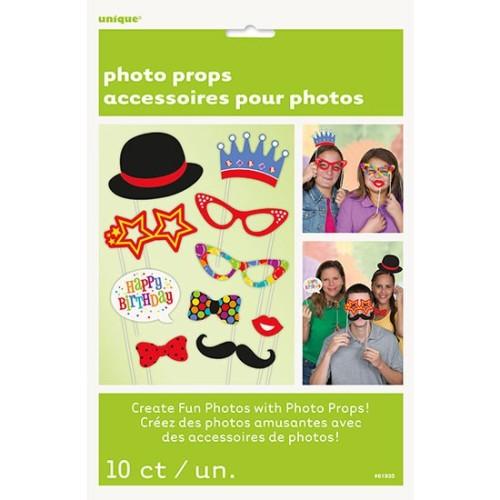 Birthday party photo kit