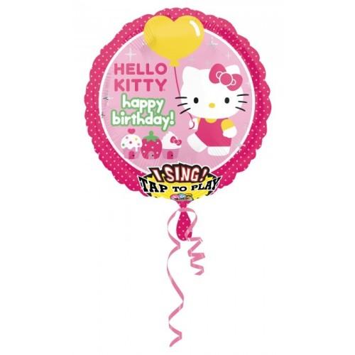 Hello Kitty - pojoči folija balon v paketu