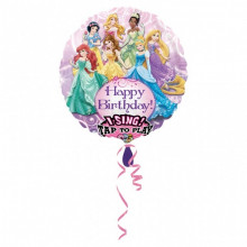 Princess - pojoči folija balon v paketu