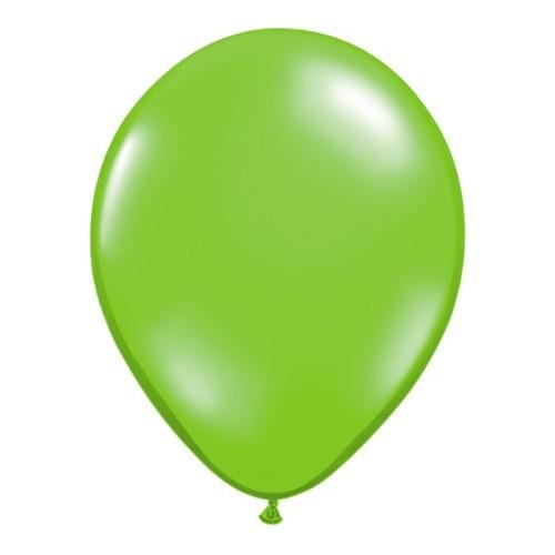 Balon 13 cm - prozorna svetlo zelena