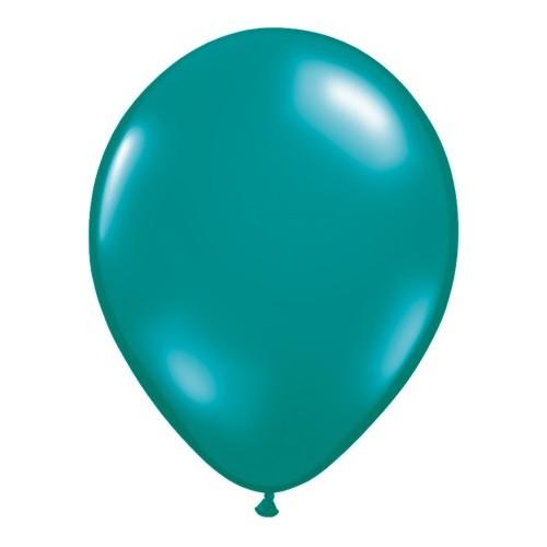Balon 13 cm - prozorna tropsko zelena