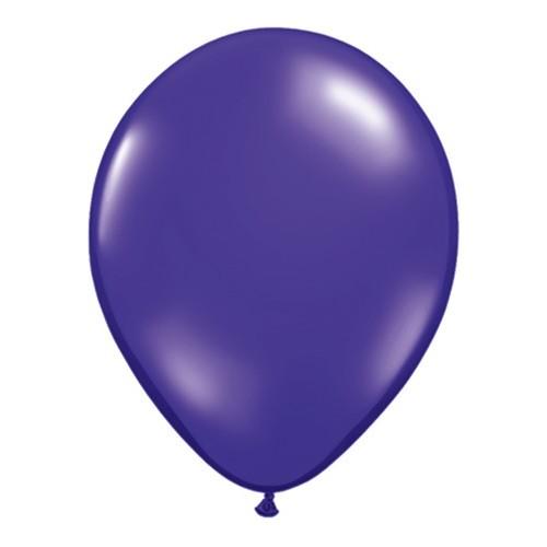 Balon 13 cm - prozorna temno vijolična