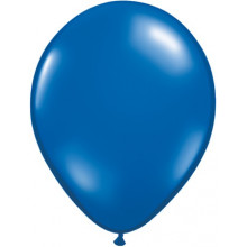 Balon 13 cm - prozorna smaragdno modra