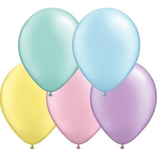 "Balloons 5"" - pearl pastel ass."