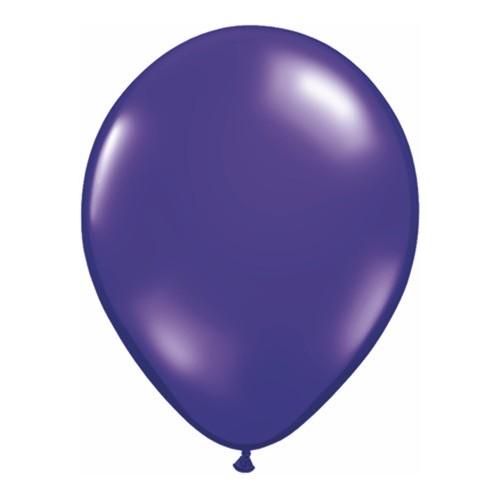 Balon 28 cm - prozorna temno vijolična