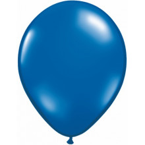 Balon 28 cm - prozorna smaragdno modra