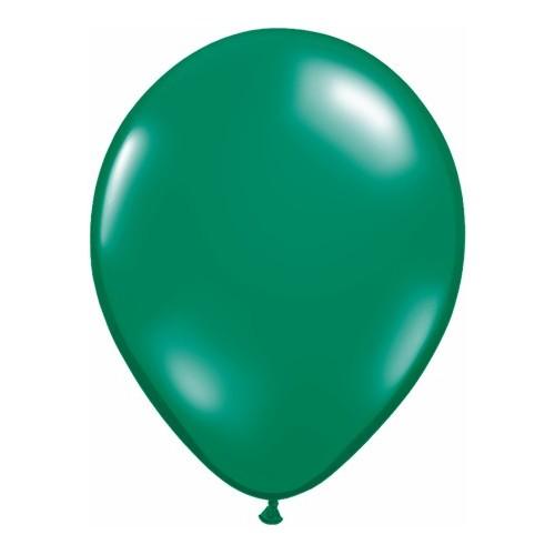 Balon 28 cm - prozorna emeraldno zelena