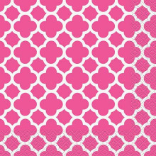 Quatrefoil Kleine Servietten - pink